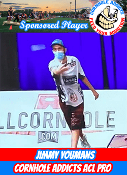 Cornhole Addicts sponsored player Jimmy Youmans