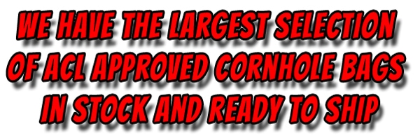 Largest selection of cornhole bags in stock