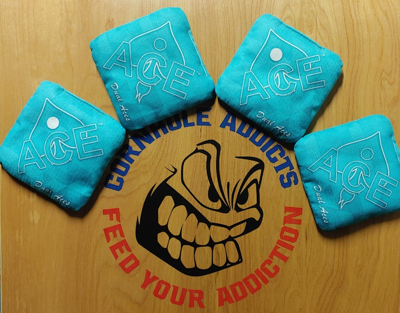 Dual Aces bags by CornholeAce
