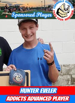 Cornhole Addicts sponsored player Hunter Eveler
