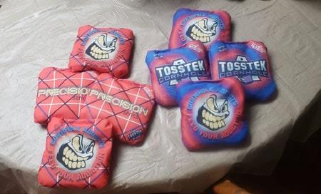 TossTek Logo and Precision series bags
