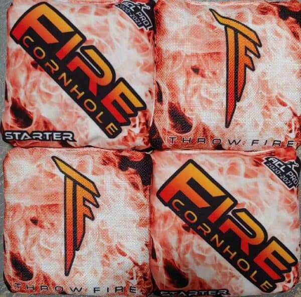 Fire Cornhole Starter red