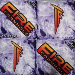Fire Cornhole Starter purple