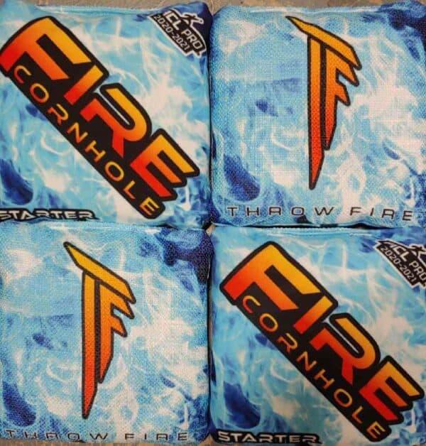 Fire Cornhole Starter blue