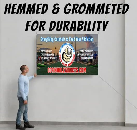 Cornhole Addicts banner display