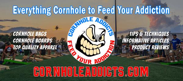 Cornhole Addicts banner