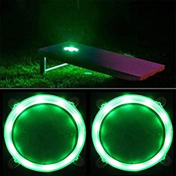Green cornhole led lights