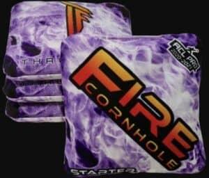 Fire Cornhole purple