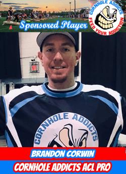 Cornhole Addicts sponsored player Brandon Corwin