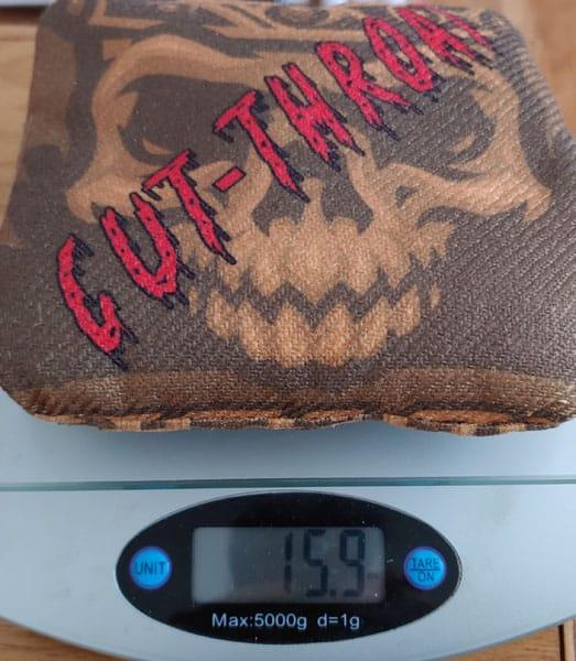 Cut Throat cornhole bag weight