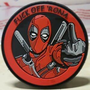 Deadpool Fuck Off Rona velcro patch
