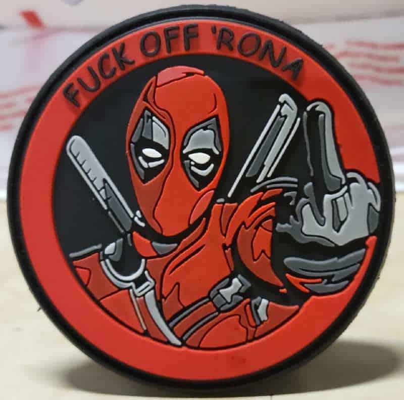 Deadpool F-k Off Rona velcro patch