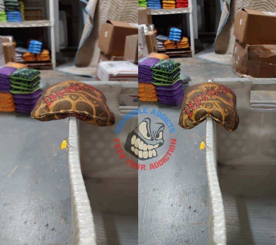 Cut Throat bags before and after Sac Relax treatment