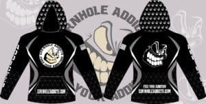 Custom hoodie design for Cornhole Addicts