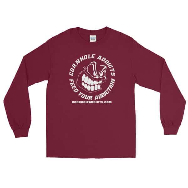 mens long sleeve shirt maroon front 602d63fce31ec