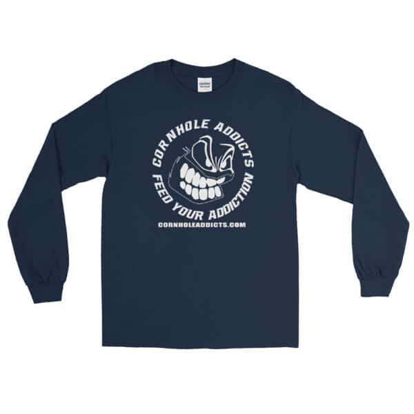 mens long sleeve shirt navy front 602d63fce2ecb