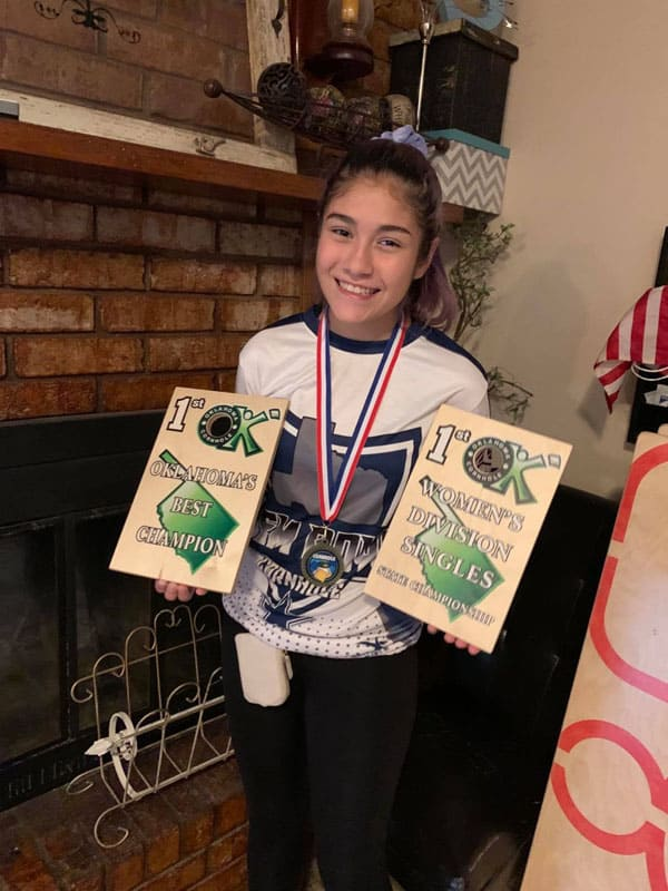 Bella's 2 Oklahoma Championships