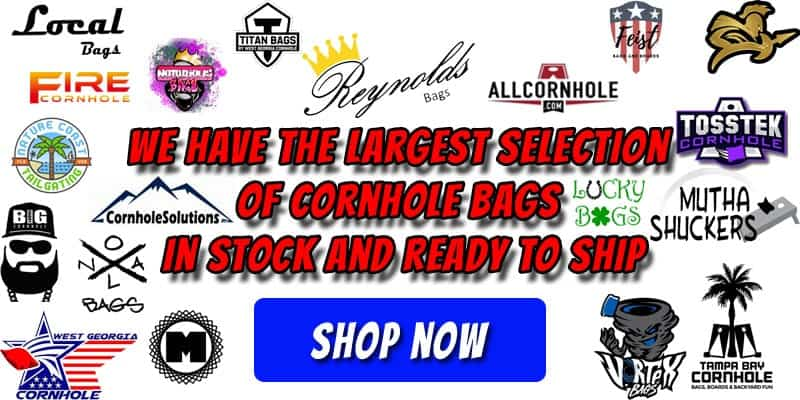 Largest selection of cornhole bags