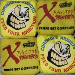 Tampa Bay Cornhole X-Factor yellow
