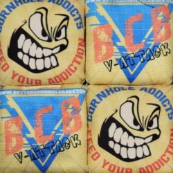 Better Cornhole Bags V-Attack yellow