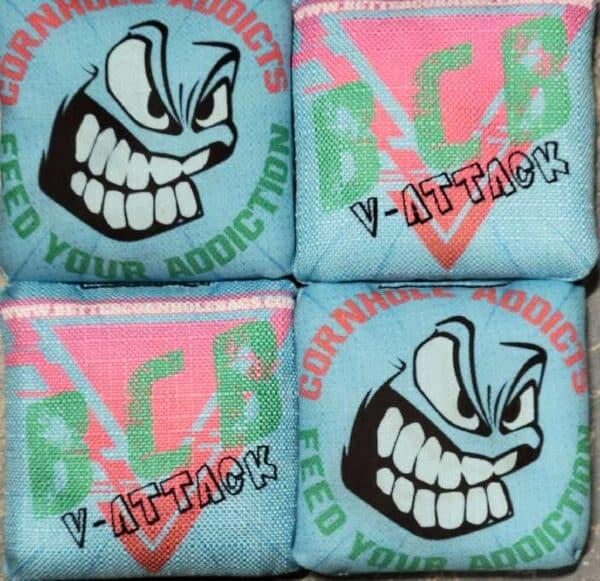 Better Cornhole Bags V-Attack blue