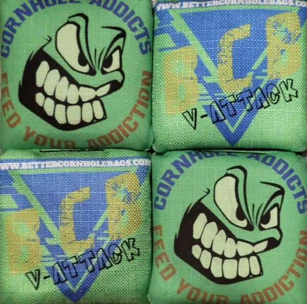 Better Cornhole Bags V-Attack green