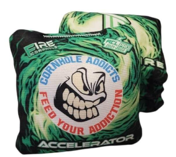 Fire Cornhole Accelerator green