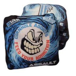 Fire Cornhole Assault blue