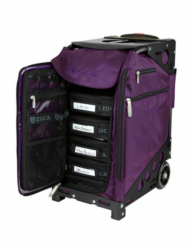Purple insert and black frame cart