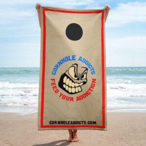 Cornhole Board beach towel