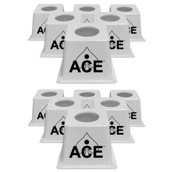 CornholeAce Airmail Pong white