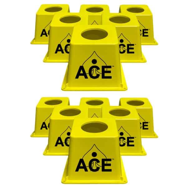 CornholeAce Airmail Pong yellow
