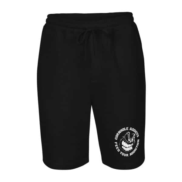 mens fleece shorts black front 60f60764b5f47