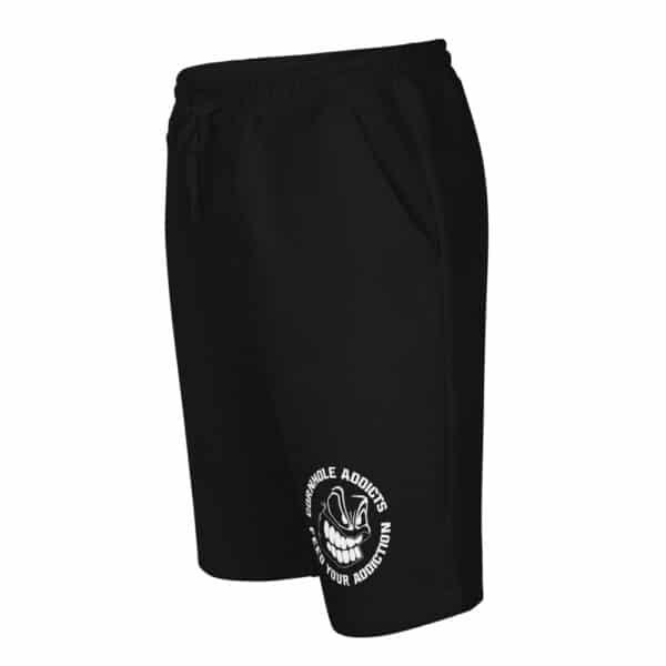 mens fleece shorts black left front 60f60764b60e0