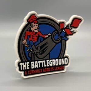 Battleground cornhole league velcro patch