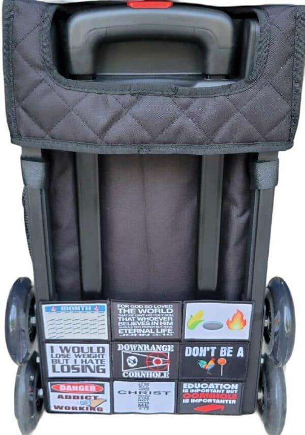Velcro for Zuca Cart Frame back view
