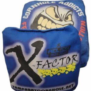 Tampa Bay Cornhole X-Factor blue