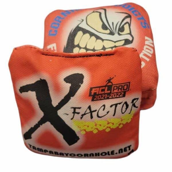 Tampa Bay Cornhole X-Factor red