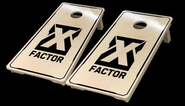X Factor cornhole boards by West Georgia Cornhole