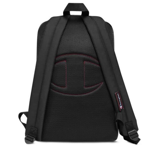 champion backpack heather black black back 613b509011274