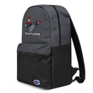 champion backpack heather black black left front 613b509011303