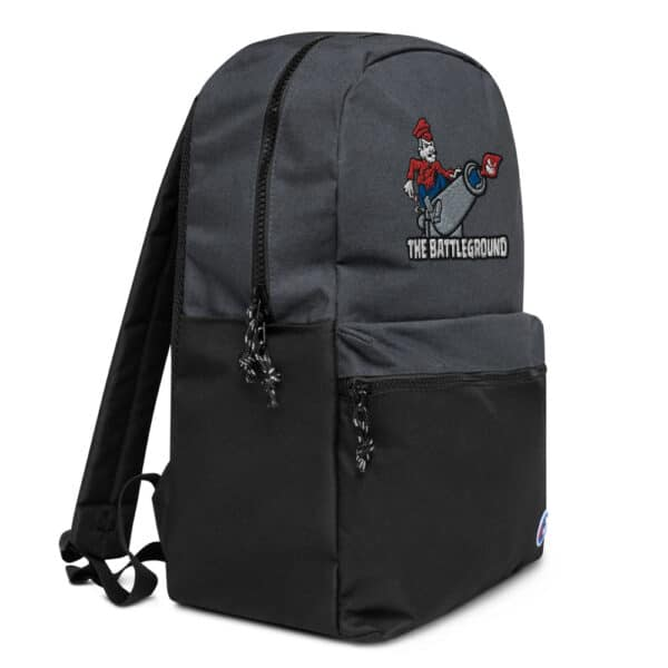 champion backpack heather black black right front 613b509011363