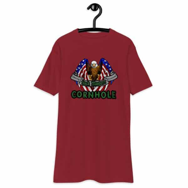 mens premium heavyweight tee brick red front 6132371ec9e13