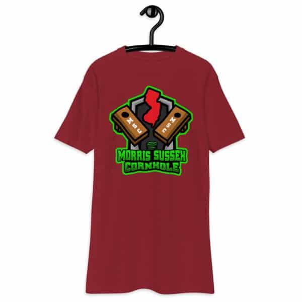 mens premium heavyweight tee brick red front 6134ea4159ac5